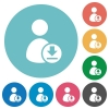 Download user account flat round icons - Download user account flat white icons on round color backgrounds