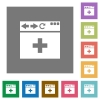 browser add new tab square flat icons - browser add new tab flat icons on simple color square backgrounds