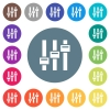 Adjust flat white icons on round color backgrounds - Adjust flat white icons on round color backgrounds. 17 background color variations are included.