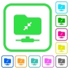 FTP compression vivid colored flat icons - FTP compression vivid colored flat icons in curved borders on white background