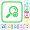 Undo search vivid colored flat icons - Undo search vivid colored flat icons in curved borders on white background