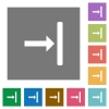 Align to right square flat icons - Align to right flat icons on simple color square backgrounds