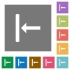 Align to left square flat icons - Align to left flat icons on simple color square backgrounds