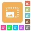Enlarge photo flat icons on rounded square vivid color backgrounds. - Enlarge photo rounded square flat icons