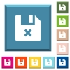 Cancel file white icons on edged square buttons - Cancel file white icons on edged square buttons in various trendy colors