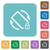 Mobile screen rotation locked rounded square flat icons - Mobile screen rotation locked white flat icons on color rounded square backgrounds
