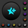 Add star dark push buttons with color icons - Add star dark push buttons with vivid color icons on dark grey background