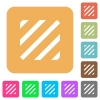 Texture flat icons on rounded square vivid color backgrounds. - Texture rounded square flat icons