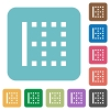 Left border rounded square flat icons - Left border white flat icons on color rounded square backgrounds