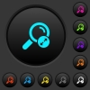 Extending search results dark push buttons with color icons - Extending search results dark push buttons with vivid color icons on dark grey background