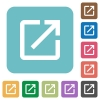 Launch application rounded square flat icons - Launch application white flat icons on color rounded square backgrounds