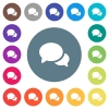Discussion flat white icons on round color backgrounds - Discussion flat white icons on round color backgrounds. 17 background color variations are included.