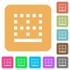 Bottom border rounded square flat icons - Bottom border flat icons on rounded square vivid color backgrounds.