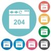 Browser 204 no content flat round icons - Browser 204 no content flat white icons on round color backgrounds