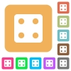 Dice four rounded square flat icons - Dice four flat icons on rounded square vivid color backgrounds.