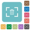 Delete image from camera rounded square flat icons - Delete image from camera white flat icons on color rounded square backgrounds