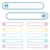 PSD file format icons in rounded color menu buttons. Left and right side icon variations. - PSD file format icons in rounded color menu buttons