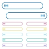 Graphical equalizer icons in rounded color menu buttons - Graphical equalizer icons in rounded color menu buttons. Left and right side icon variations.