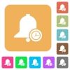 Reminder time rounded square flat icons - Reminder time flat icons on rounded square vivid color backgrounds.