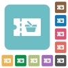 shopping discount coupon rounded square flat icons - shopping discount coupon white flat icons on color rounded square backgrounds