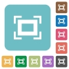 Full screen white flat icons on color rounded square backgrounds - Full screen rounded square flat icons