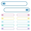 Toy store discount coupon icons in rounded color menu buttons - Toy store discount coupon icons in rounded color menu buttons. Left and right side icon variations.