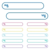 Horizontal zipper icons in rounded color menu buttons - Horizontal zipper icons in rounded color menu buttons. Left and right side icon variations.