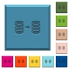 Database mirroring engraved icons on edged square buttons - Database mirroring engraved icons on edged square buttons in various trendy colors