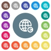 Online Euro payment flat white icons on round color backgrounds - Online Euro payment flat white icons on round color backgrounds. 17 background color variations are included.