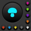 Mushroom dark push buttons with color icons - Mushroom dark push buttons with vivid color icons on dark grey background