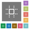 Snap to grid square flat icons - Snap to grid flat icons on simple color square backgrounds