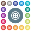 Dress button with 4 holes flat white icons on round color backgrounds - Dress button with 4 holes flat white icons on round color backgrounds. 17 background color variations are included.