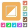 Invert object rounded square flat icons - Invert object flat icons on rounded square vivid color backgrounds.
