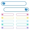 FTP tag icons in rounded color menu buttons - FTP tag icons in rounded color menu buttons. Left and right side icon variations.