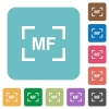 Camera manal focus mode rounded square flat icons - Camera manal focus mode white flat icons on color rounded square backgrounds