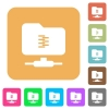 FTP compression rounded square flat icons - FTP compression flat icons on rounded square vivid color backgrounds.