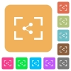 Camera share image rounded square flat icons - Camera share image flat icons on rounded square vivid color backgrounds.