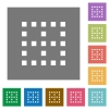 No borders square flat icons - No borders flat icons on simple color square backgrounds