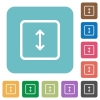 Adjust object height rounded square flat icons - Adjust object height white flat icons on color rounded square backgrounds