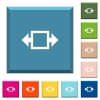 Width tool white icons on edged square buttons - Width tool white icons on edged square buttons in various trendy colors