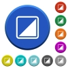 Invert object beveled buttons - Invert object round color beveled buttons with smooth surfaces and flat white icons