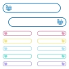Tic tac toe game icons in rounded color menu buttons. Left and right side icon variations. - Tic tac toe game icons in rounded color menu buttons