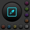 Get object color dark push buttons with color icons - Get object color dark push buttons with vivid color icons on dark grey background