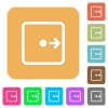 Move object right rounded square flat icons - Move object right flat icons on rounded square vivid color backgrounds.