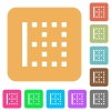 Left border rounded square flat icons - Left border flat icons on rounded square vivid color backgrounds.
