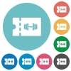 Gym discount coupon flat round icons - Gym discount coupon flat white icons on round color backgrounds