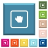 Grab object white icons on edged square buttons - Grab object white icons on edged square buttons in various trendy colors