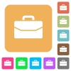 Satchel rounded square flat icons - Satchel flat icons on rounded square vivid color backgrounds.