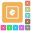 Fill object rounded square flat icons - Fill object flat icons on rounded square vivid color backgrounds.