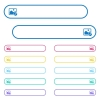 Edit image icons in rounded color menu buttons - Edit image icons in rounded color menu buttons. Left and right side icon variations.
